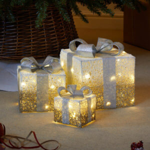 Faux Gift Boxes - Sparkly Gold