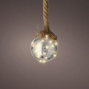 LED Ball & Jute Rope 15 lights