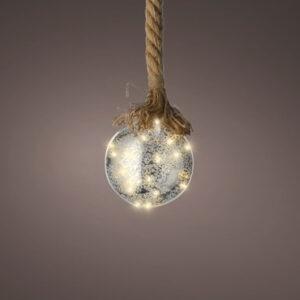 LED Ball & Jute Rope 40 lights
