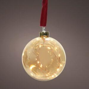 LED Ball & Red Hanger 30 lights