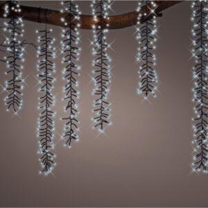 LED Cascade Lights 480 lights - Cool White/Black