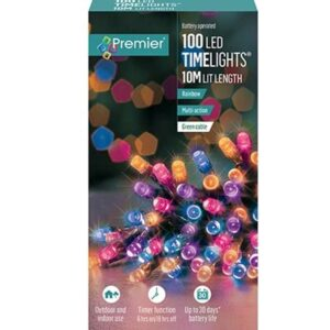 Battery Timelights 100 Rainbow WAS £9.99 NOW £5.99