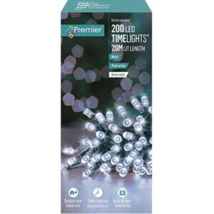 Battery Timelights 200 White WAS £14.99 NOW £9.99