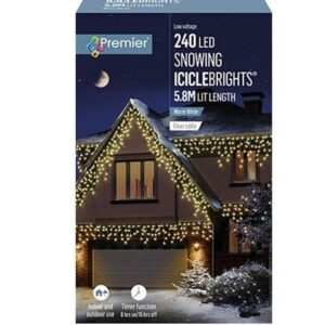 Snowing Icicles 240 W/White WAS £34.99 Now £29.99