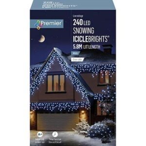 Snowing Icicles 240 White WAS £34.99 Now £29.99
