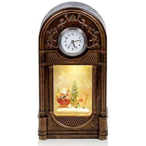 Antq Gld Clock Glitter 29cm