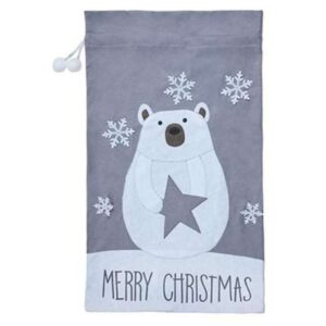 1m Felt Polar Bear Santa Sack