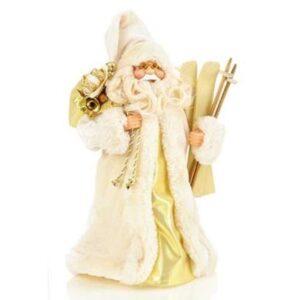 30cm Cream Tree Top Santa