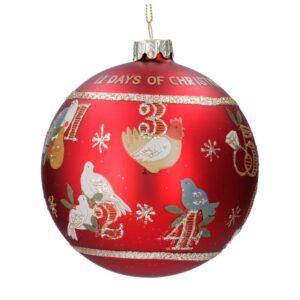 Red 12 Days of Christmas Ball