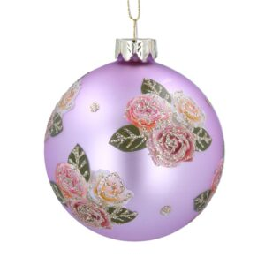 Lilac Ball with Pink Roses