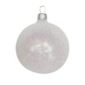 White Iridescent Glitter Ball