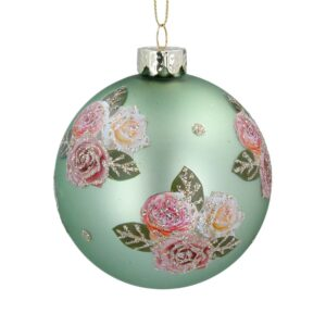 Green Ball with Pink Roses