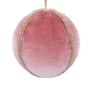 Pink Velvet Braid Ball