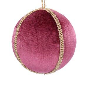 Mauve Velvet Braid Ball