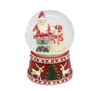 Santa with Sack Music Dome - 100mm