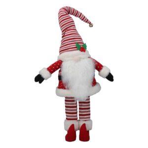 Red White Stripe Fabric Santa Orn