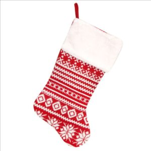 Red/White Knitted Stocking