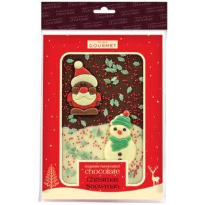 Christmas Snowman Chocolate Slab
