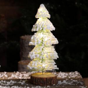Snowy Needle Tree 36cm